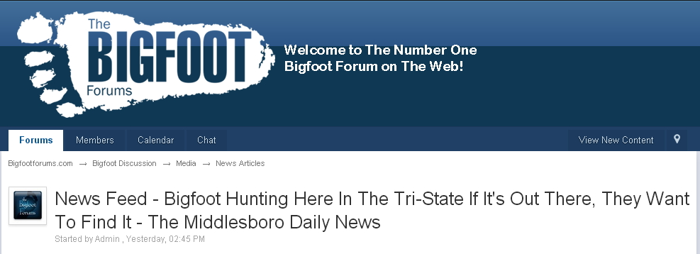 Bigfoot News Kentucky