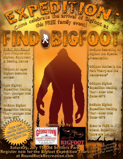 Bigfoot event in Round Rock Texas